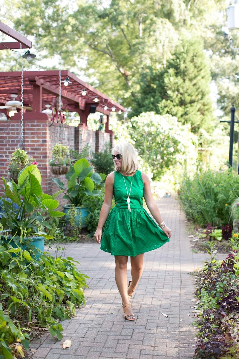 topshop green pinafore dress
