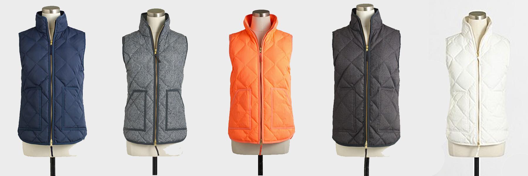 jcrew puffer vests