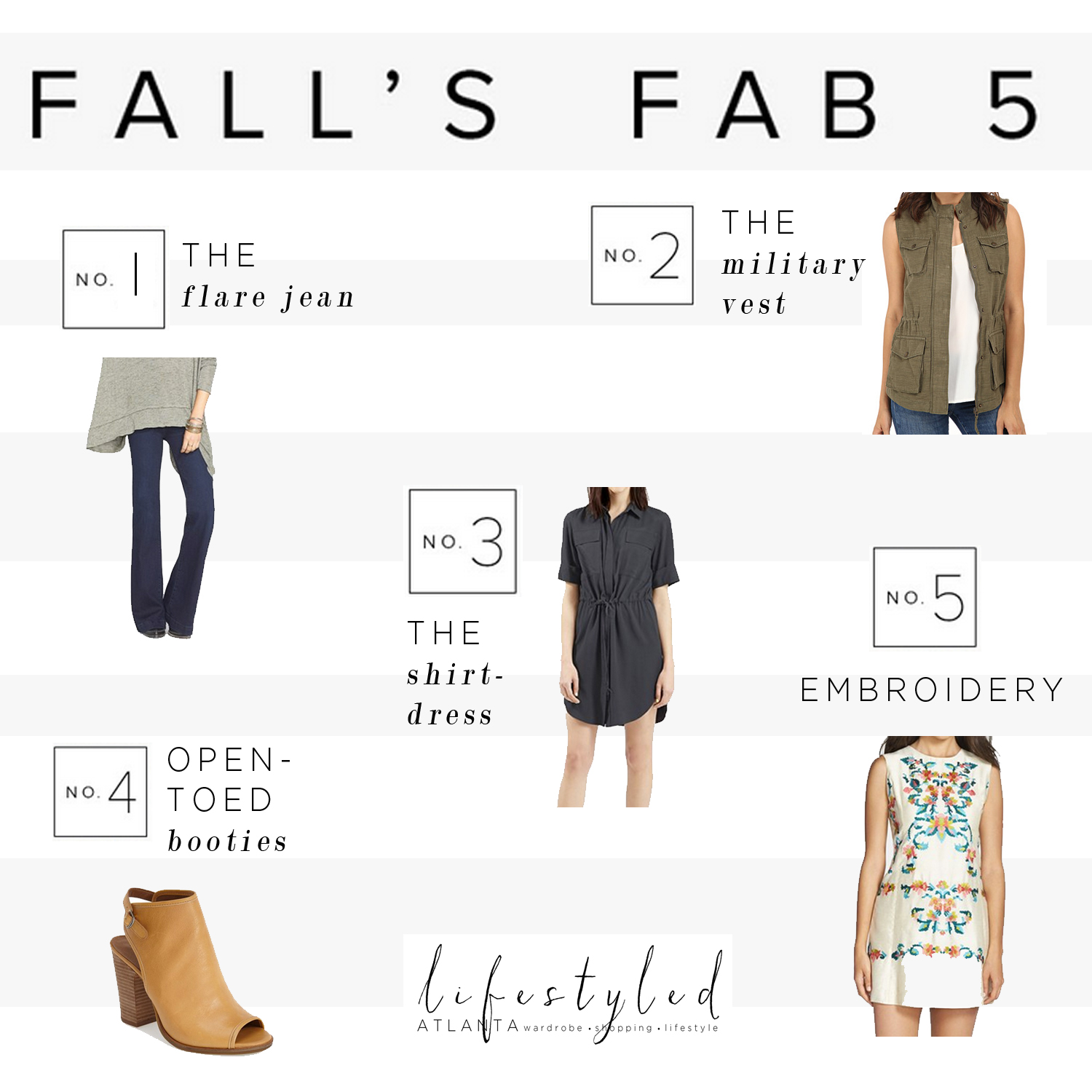 fall fab five essentials lifestyled atlanta