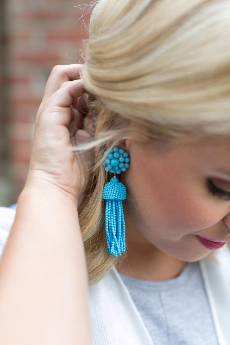 tassel earrings lifestyled atlanta