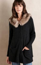 Heathered Slate Sweater Coat