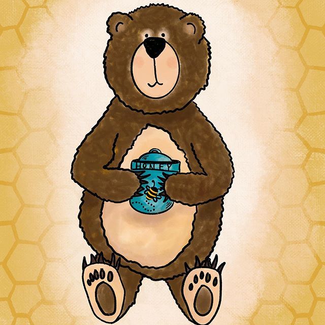 Honey Bear 🐻 . . . . . #honey #bear #doodle #draw #drawing #illustration #art_spotlight #artwork #art #drawings #illustrations #drawingoftheday #illustrationartists #illustrationartist #illustrate #illustracion #illustrationnow #illustrationhowl #illustrator #illustrators #illustrationoftheday #instaartist #instartists #sketches #visualartist #love #procreate #ipadpro #sfmove #happy
