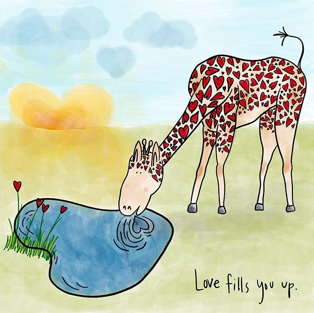 Love fills you up. . . . . . #giraffe #love #doodle  #draw #drawing #illustration #art_spotlight #artwork #art #drawings #illustrations #drawingoftheday #illustrationartists #illustrationartist #illustrate #illustracion #illustrationnow #illustrationhowl #illustrator #illustrators #illustrationoftheday #instaartist #instartists #sketches #visualartist #procreate #ipadpro #sfmove #happy