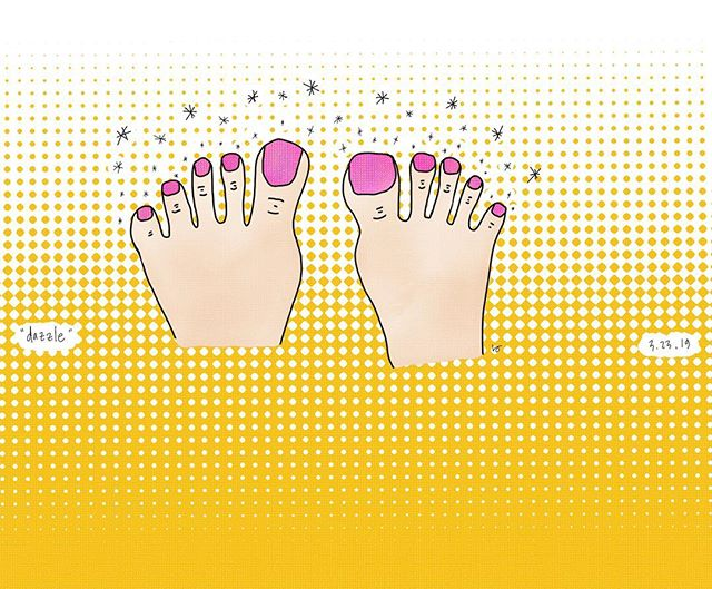 Nails did. . . . . #randomworddoodle #pedicure #doodle #draw #drawing #illustration #art_spotlight #artwork #art #drawings #illustrations #drawingoftheday #illustrationartists #illustrationartist #illustrate #illustracion #illustrationnow #illustrationhowl #illustrator #illustrators #illustrationoftheday #instaartist #instartists #sketches #visualartist #love #procreate #ipadpro #sfmove #happy