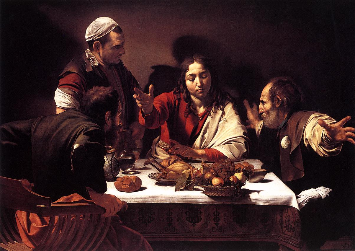 Berger presents Caravaggio's   Supper at Emmaus  , while two very different pieces of music play yielding a different emotional impact on the viewer respectively.