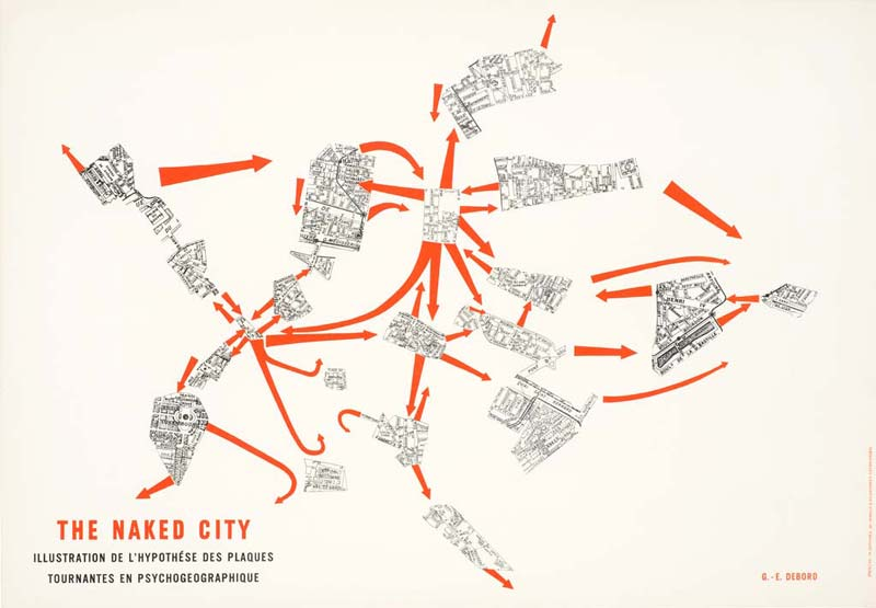 "Debord's  The Naked City  map provides a ""choose your own adventure approach"" to navigating and exploring Paris in a whole new way."