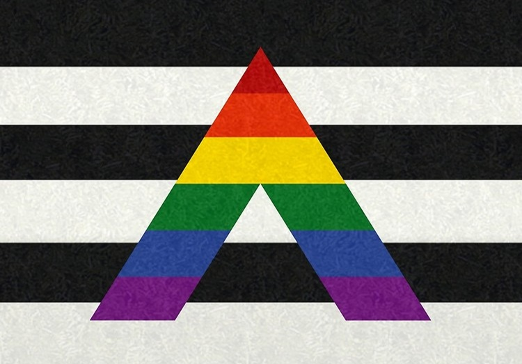 Straight Ally symbol for LBGTQ community - denotes a safe place, safe person.