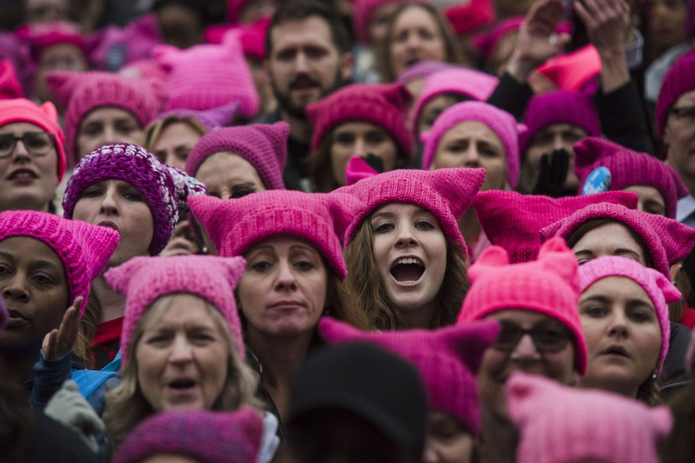 Pussy hats from the Women's March