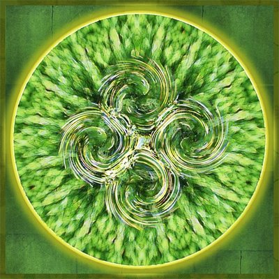 """Four Spirals"" mandala by Sue O'Kieffe. All rights reserved."