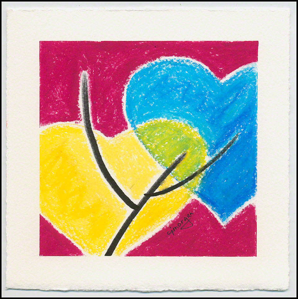 """""""Reach Out"""" © 2012 Catherine Jo Morgan - heart painting featured in article on solo show of """"Heart Paintings"""" in Atlanta, July 2014"""