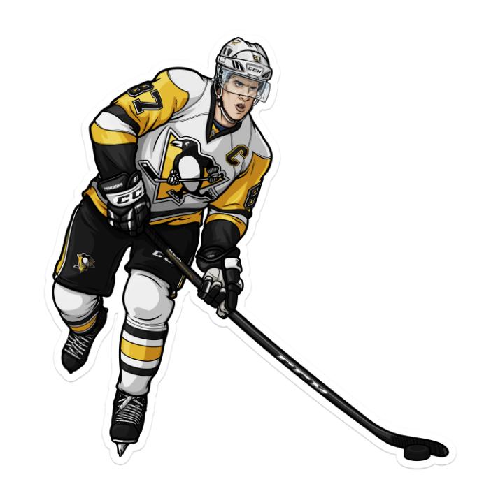 "Crosby Away sticker 5""x5"" Die Cut"
