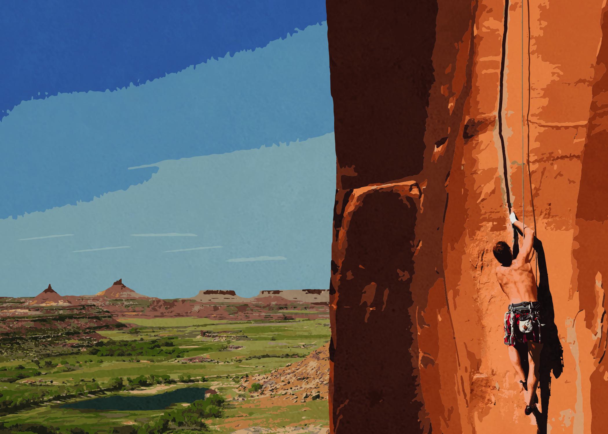 """4.5"""" x 5.5"""" Digitized Print: Indian Creek, Utah"""