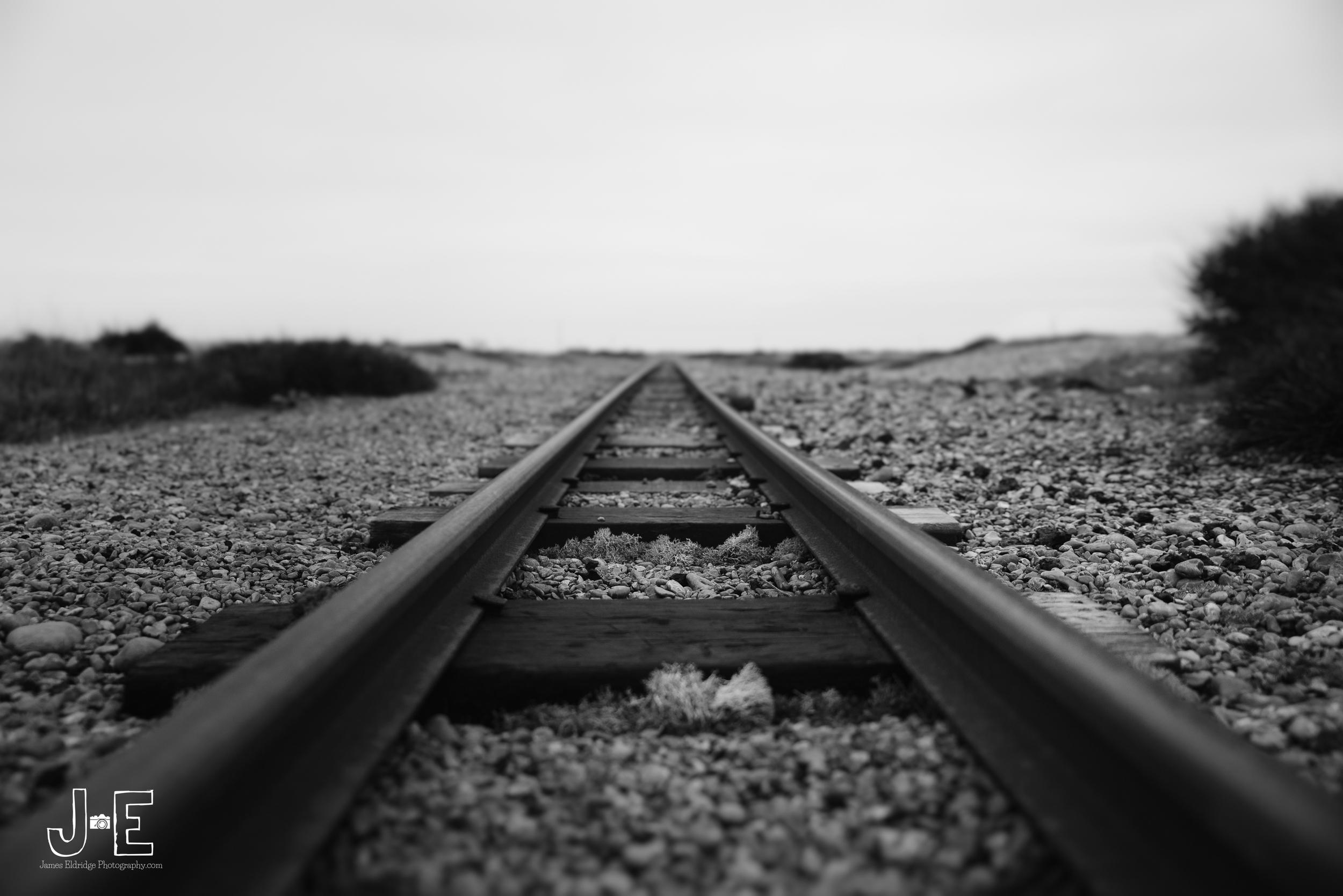 Dungeness train tracks