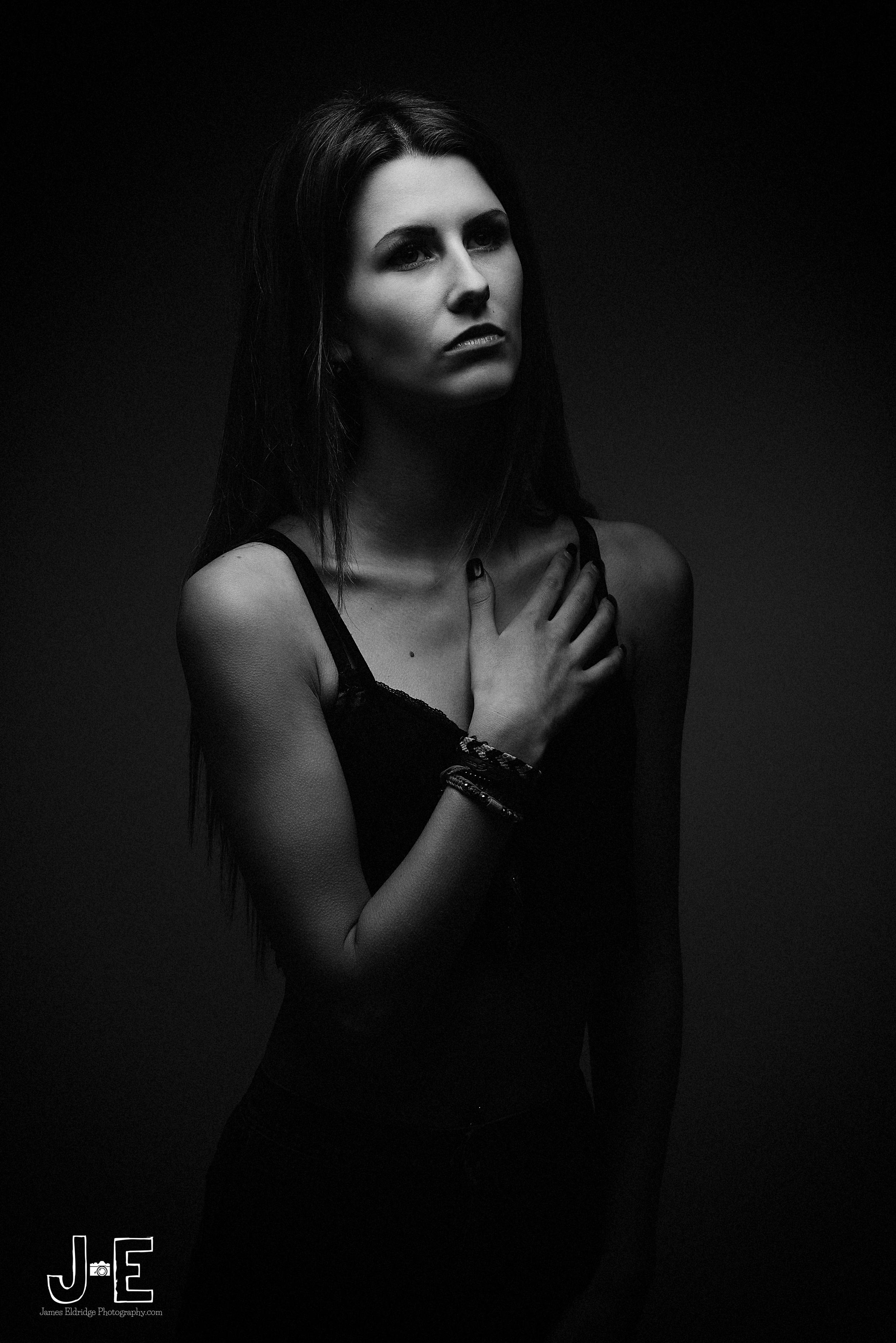 dark portrait studio
