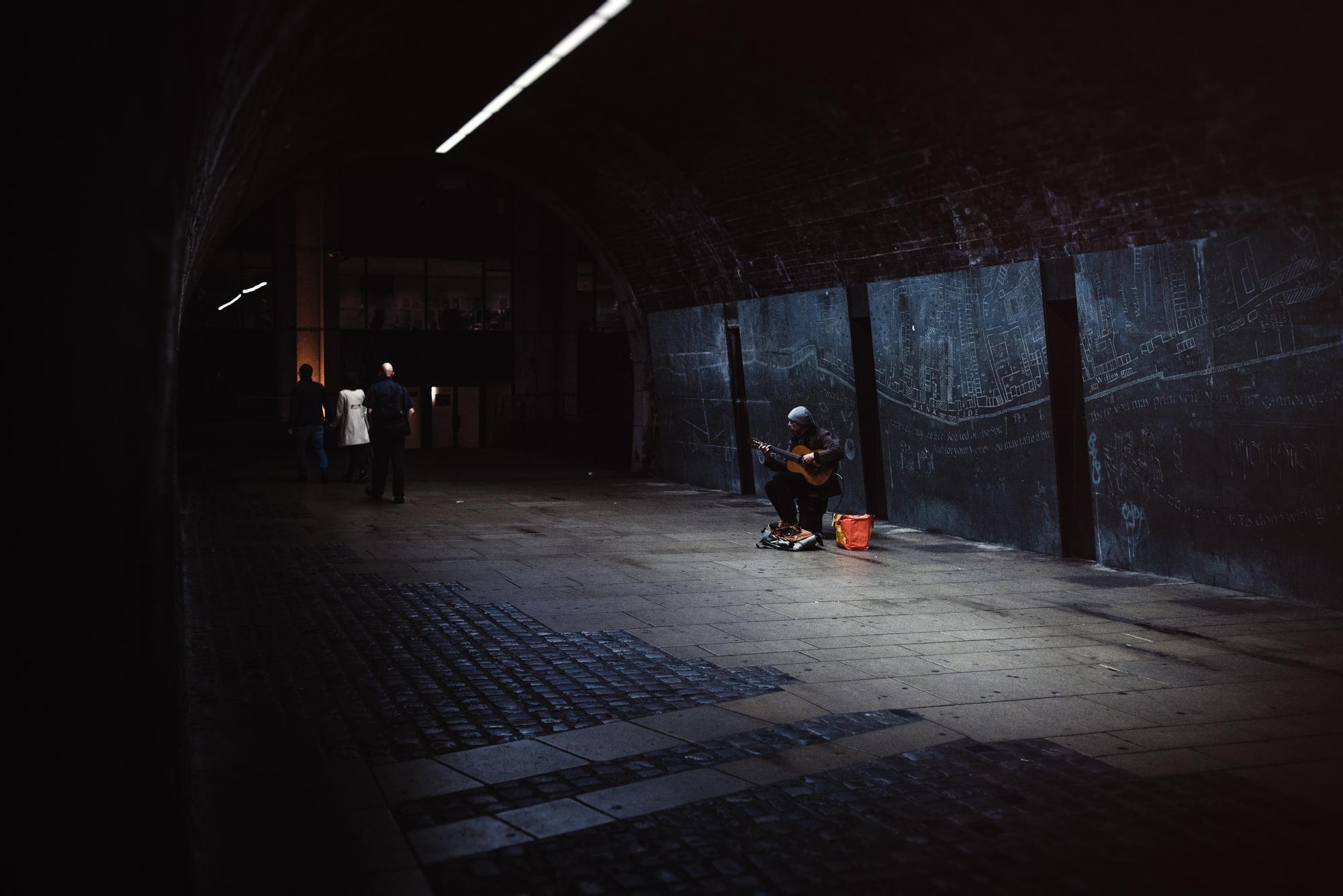 London street photography night