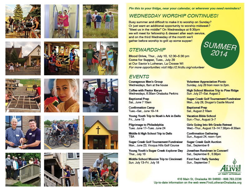 Click here to view the Summer Programming Handout