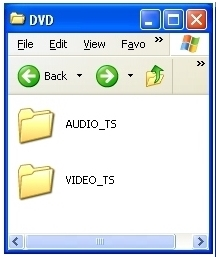 A properly burned DVD will have these folders in it. This folder structure is universal for all DVD players, even the most basic.