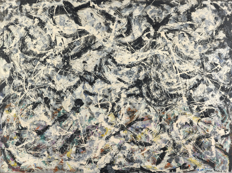 Jackson Pollock's Greyed Rainbow, 1953, Oil on linen © 2015 Pollock-Krasner Foundation / Artists Rights Society (ARS), New York