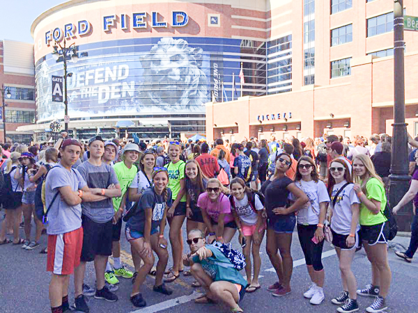 Gathering with 30,000+ Lutheran youth at Ford Field.