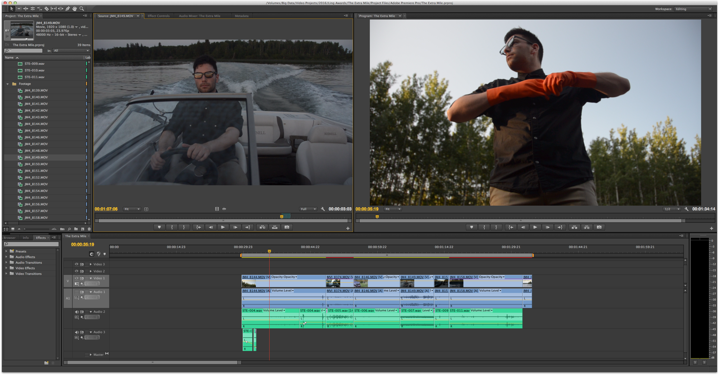 Jon does triple duty - starring in, filmingand editing thispsychological-action-thriller-comedy-drama.