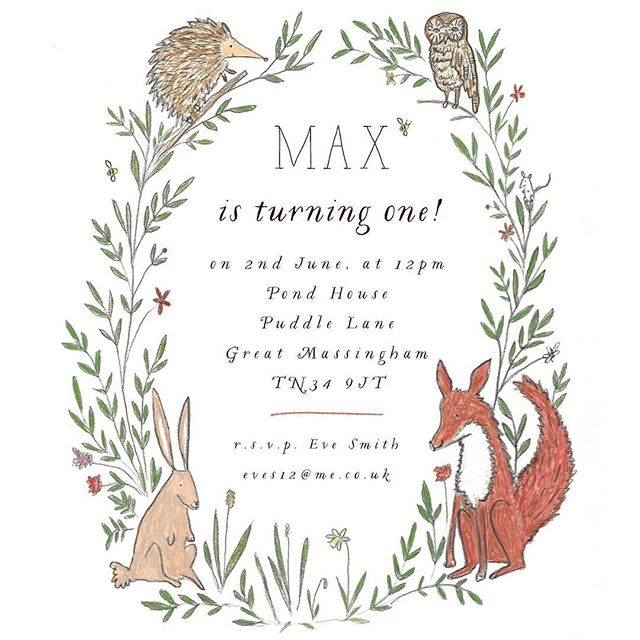 One of my favourite projects to work on, little Max's 1st birthday party invitation. Held in the woods! 🦊 🦉 🐇 🦔  #inspiremyinstagram #dailydoseofpaper #partyinvitations #seekinspirecreate #woodlandparty #woodlandanimals #illustrated #illustrationoftheday
