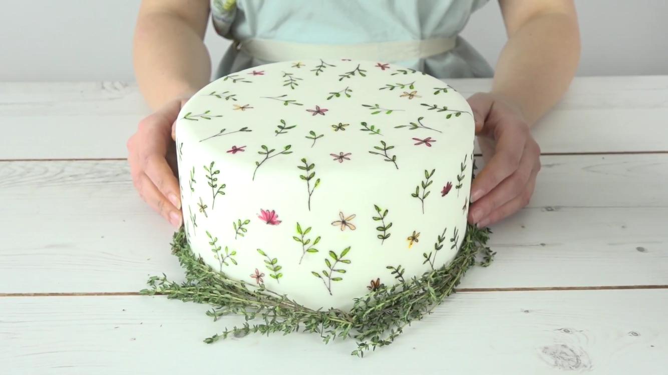 Painted cake tutorial