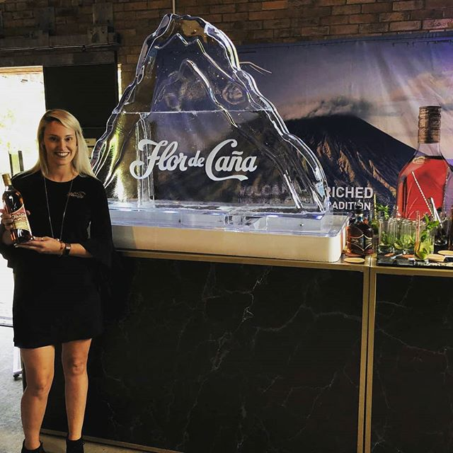 All the heat talk made us think about the time we poured Flor Dr Cana Rum through a volcano luge... 😎 Stay Cool out there . . . #flordecaña #ambassador #promo #toronto #iceluge
