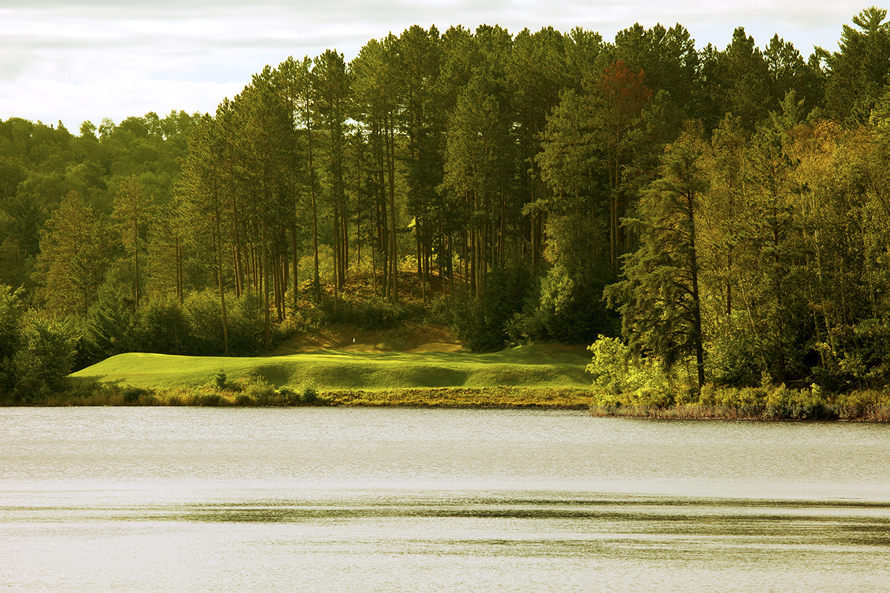 Hole 17, from across the lake.