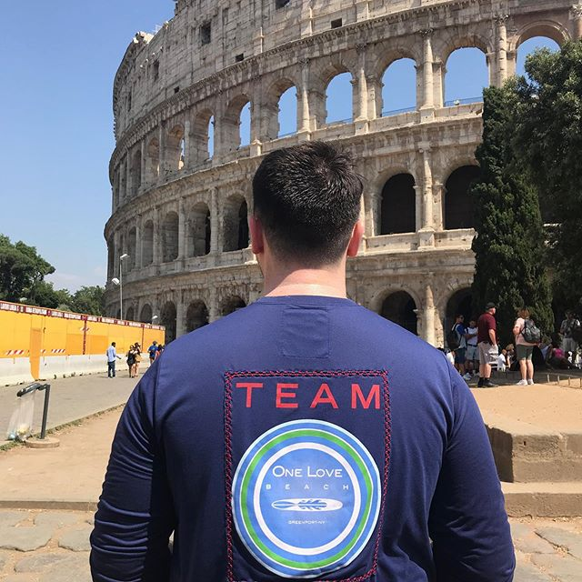 We are fielding a team of gladiators to take on the colosseum!  Evan is taking applications in Rome for anyone interested!  #thelionsdontbite #sunproofnotswordproof #warrantyvoidwhenyouenterthepit #teamonelovebeachworldtour #showusyourlove