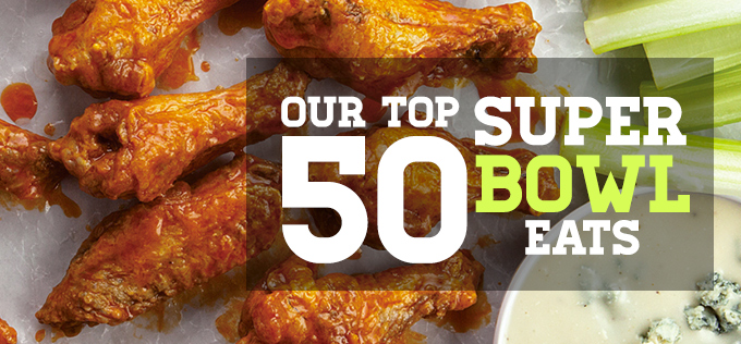 Top 50 Super Bowl Eats