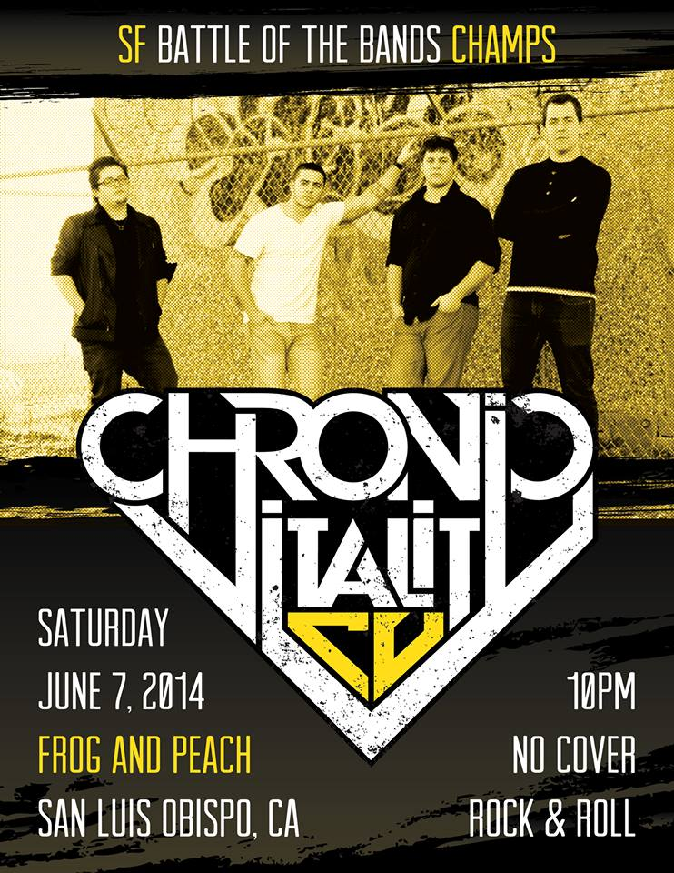 LAST SHOW FOR A WHILE IN SAN LUIS OBISPO. DON'T MISS IT!!
