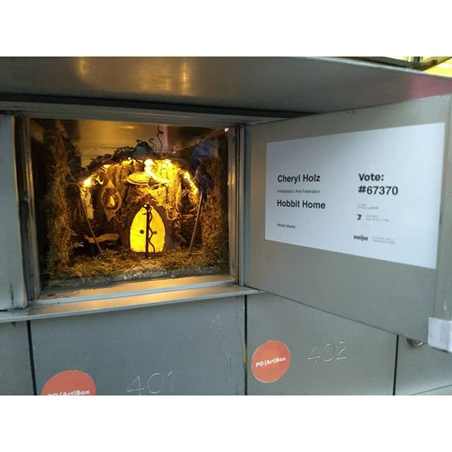 """Hobbit House"" by Cheryl Holz showing at PO (Art)Box."