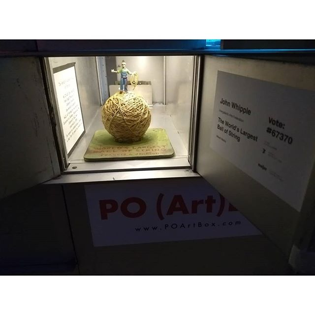 """The World's Largest Ball of String""  by John Whipple, showing now at PO (Art)Box!"