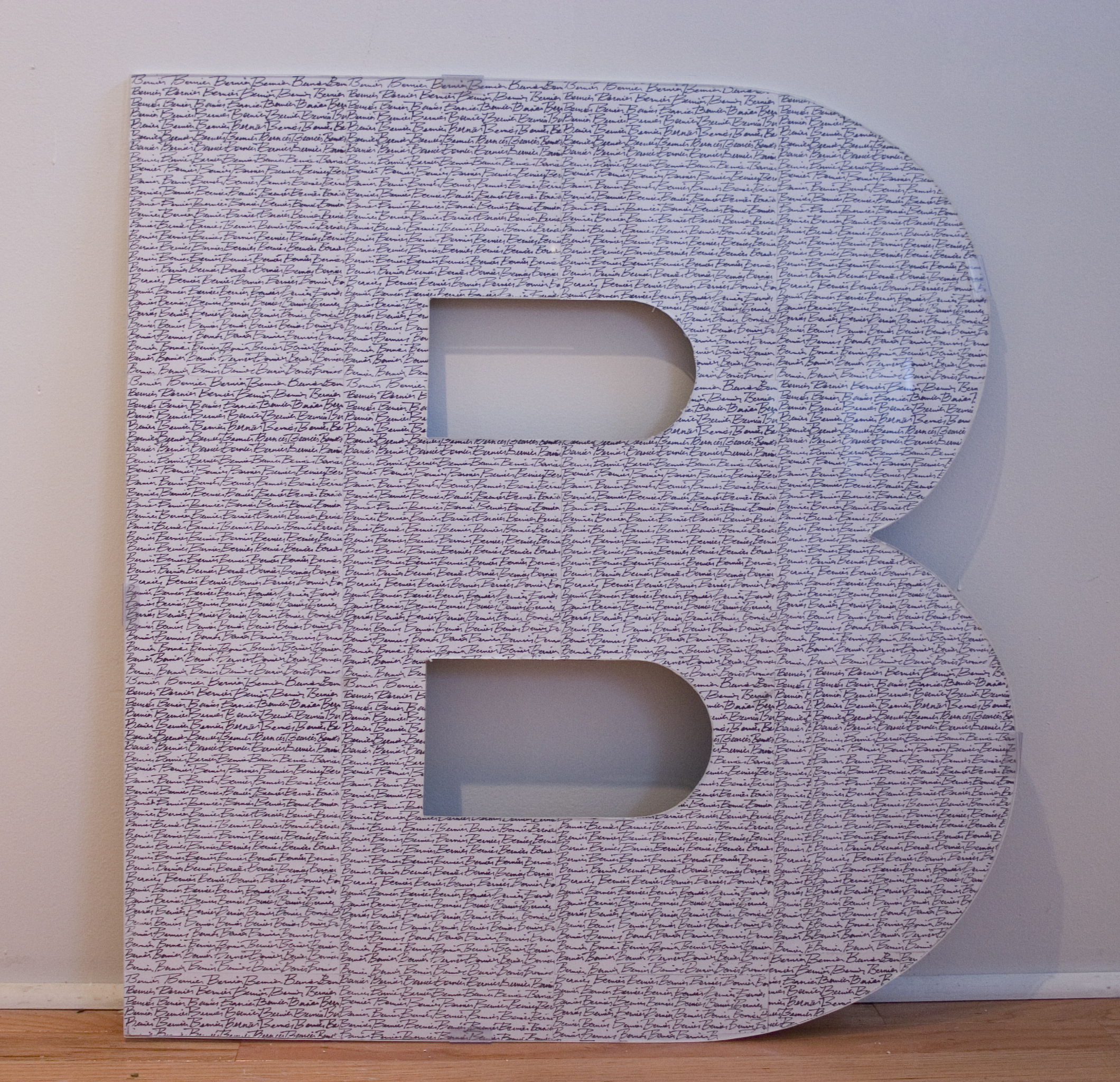 """I've Gotcha Covered A-Z, 2011  dimensions vary 30"""" x 30"""" x .5""""  paper, ink,wood, plexi  letters A-Z available"""