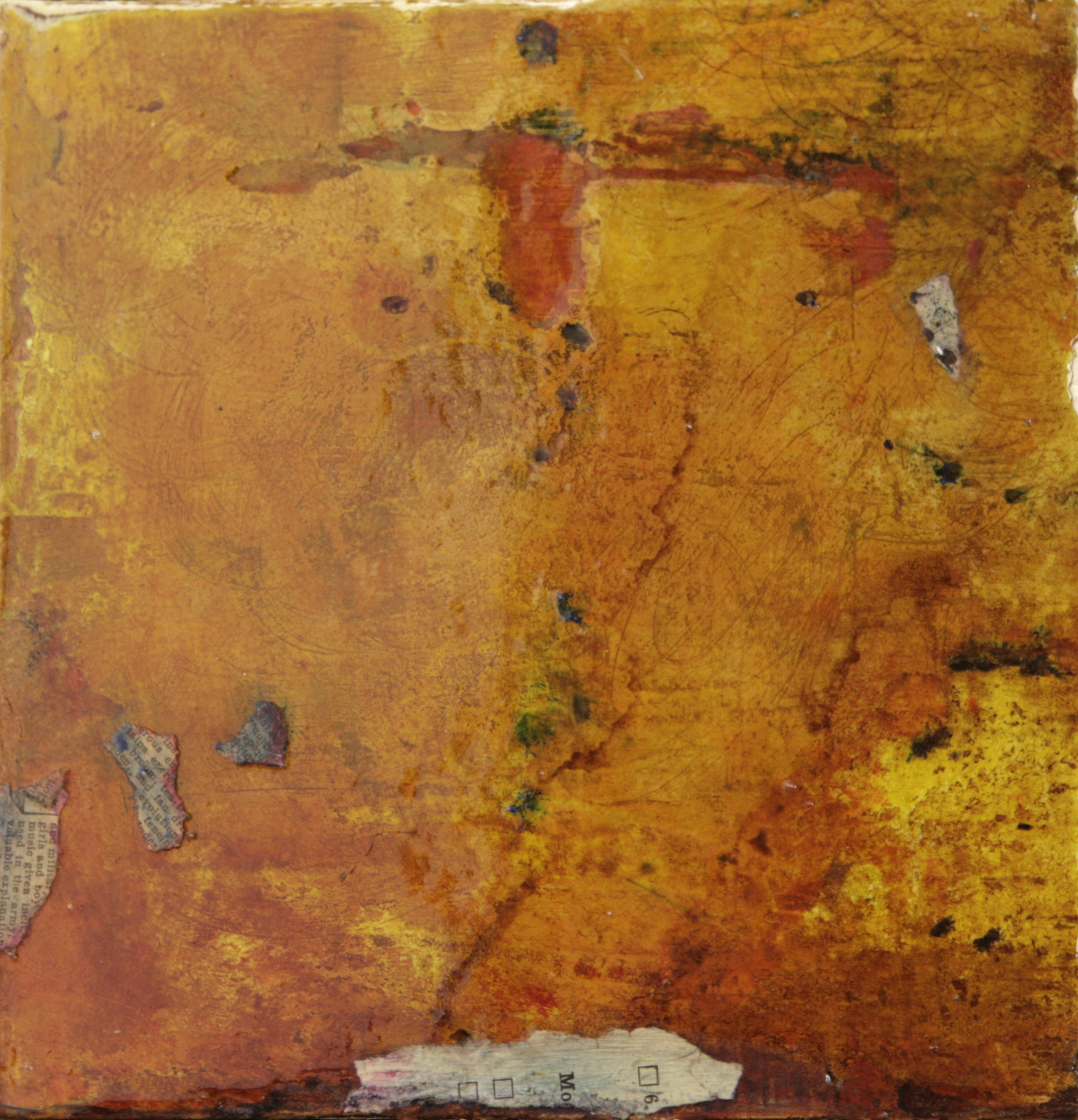 """Moments in Time II  8"""" x 8""""  Mixed media on panel"""