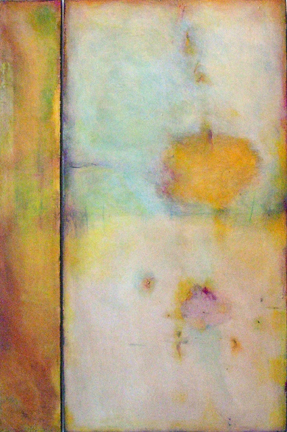 """Where Past and Future Come to Rest II  48"""" x 32""""  Mixed media on panel"""