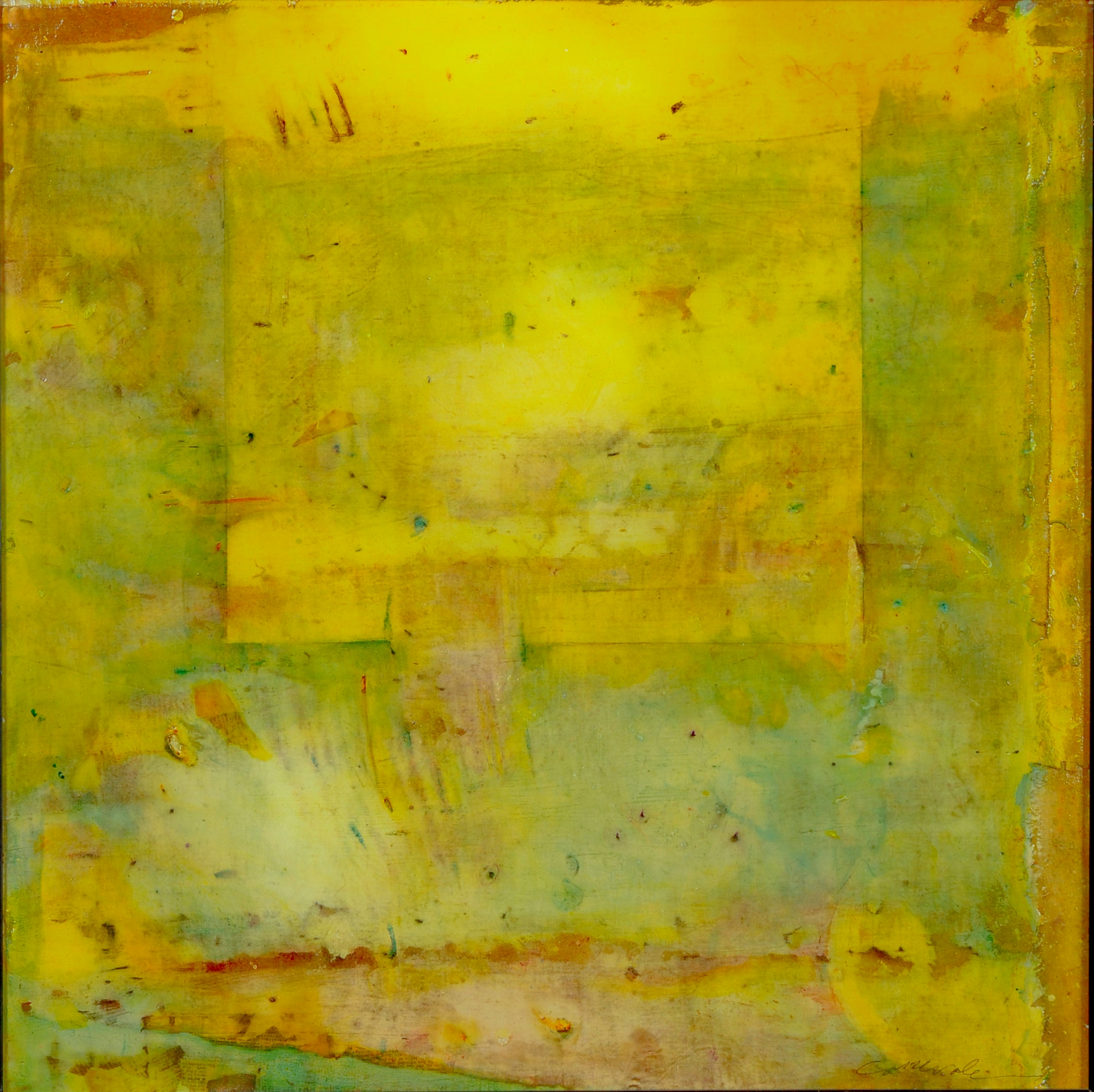 """Playing Outside the Box I  24"""" x 24""""  Mixed media on panel"""