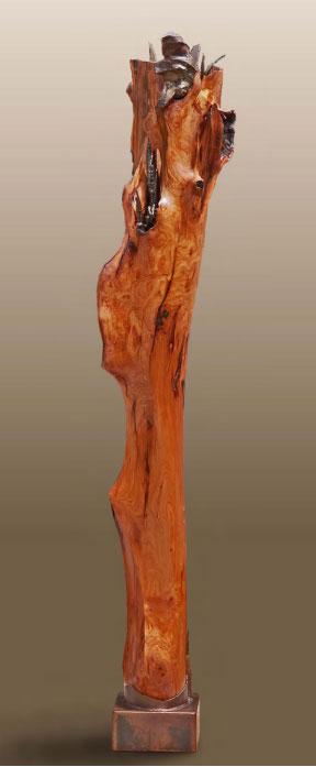 "Kylix of Wildwood Deep  Cherry and steel  82.5"" x 18"" x 17"""