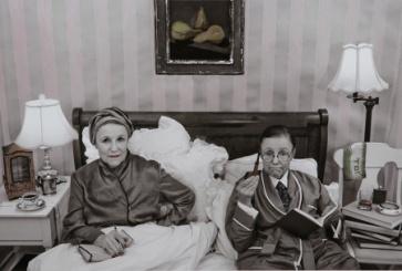 "Simone de Beauvoir & Jean-Paul Sarte--""Les Conspiriteurs"" from the ""Myselfportraits, Ode to Icons"" Series  Archival carbon pigment print  27"" x 40"""
