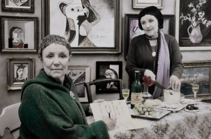 """Gertrude and Alice, 27 rue de Fleurus, Paris"""" from """"Myselfportraits, Ode to Icons"""" Series  Archival carbon pigment print  23.5"""" x 35.5"""""""