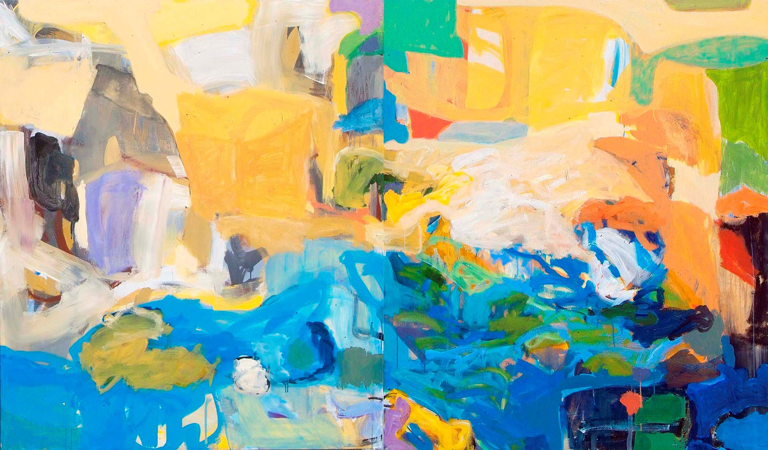 Orchestration  acrylic on canvas  68 x 116