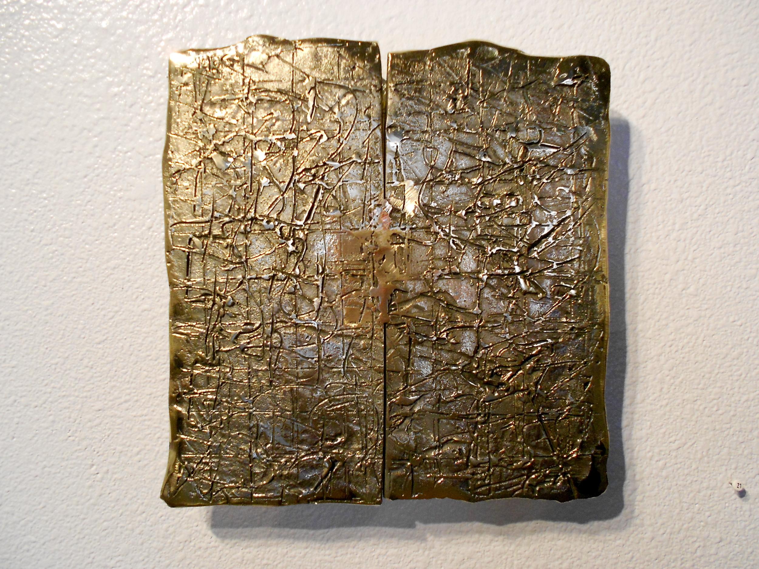 """Bronze Wall Relief (2)  12"""" x 12"""""""