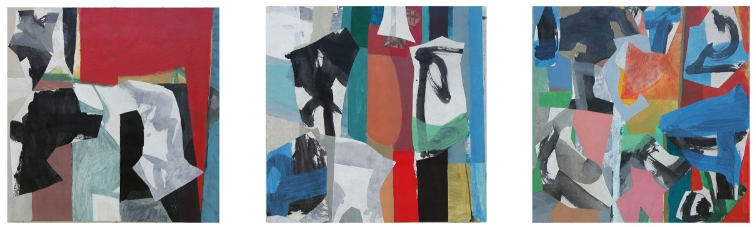 Ben Strawn  Triptych  Tangier, Scarlet, Soco