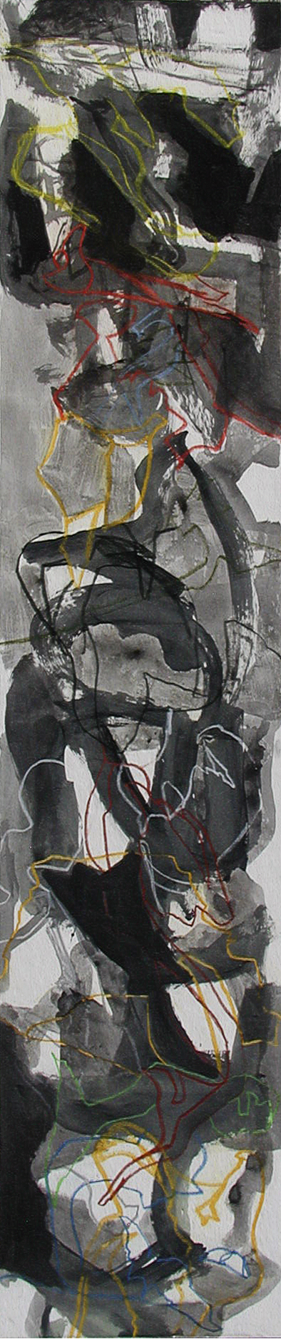 Graces #2  mixed media on panel  96 x 20