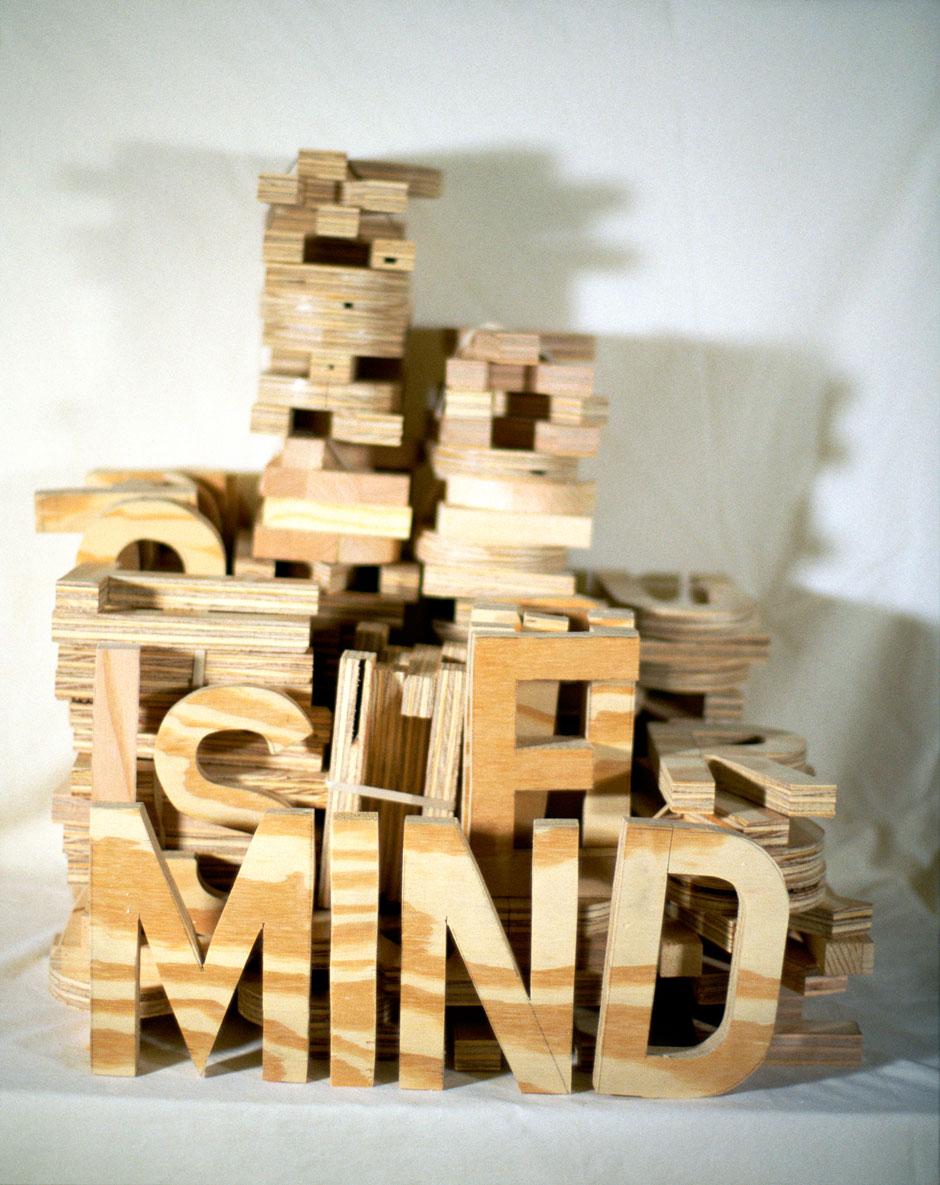 """Mind,1999  36"""" x 44""""  Xerox tranfer on paper"""