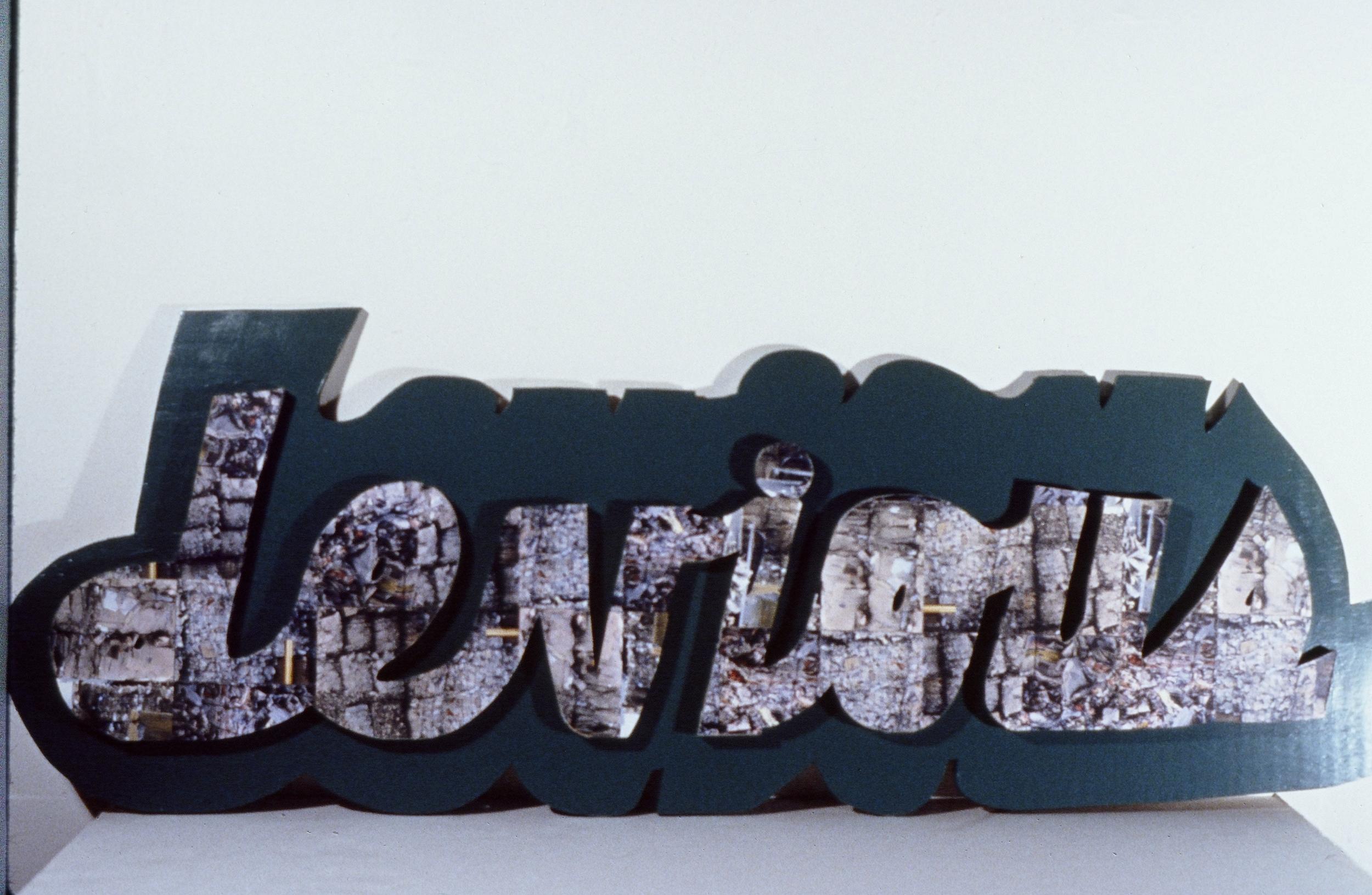"""Devious, 1998/9  55"""" x 21""""  Mixed media"""