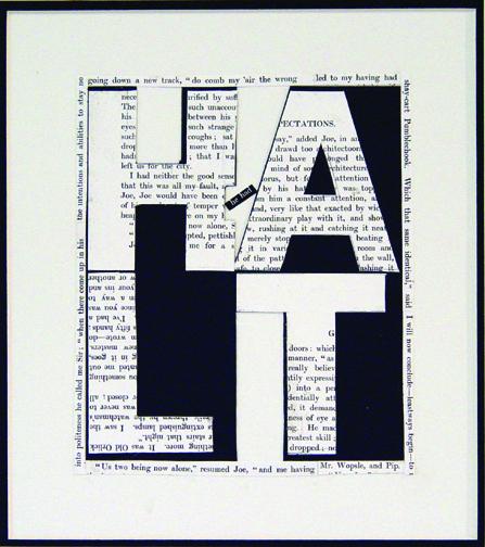 "Halt, 2008 (4 Letter Words Series)  15"" x 12""  Xerox transfer on paper"