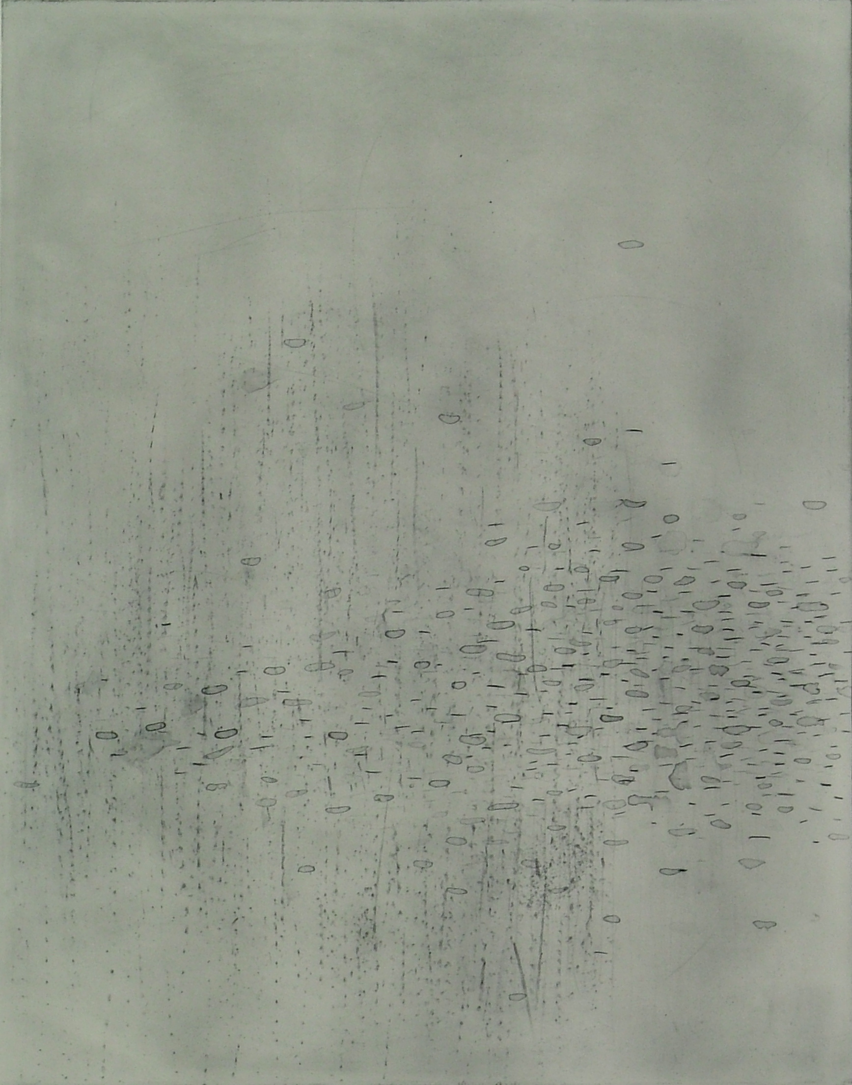 """Ice/Migration 3  Polymer Plate Etching  26"""" x 22"""""""