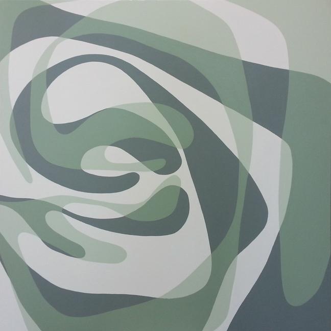 Angela Beloian  Green Eddy  40 x 40 in.