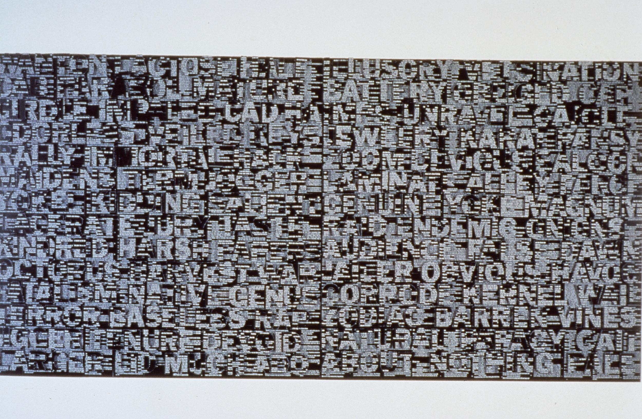 """Wanton & Illusory  A Play on Words Much  Ado about nothing  1997  48"""" x 48"""" each  (More pieces silimar to this in different styles)"""